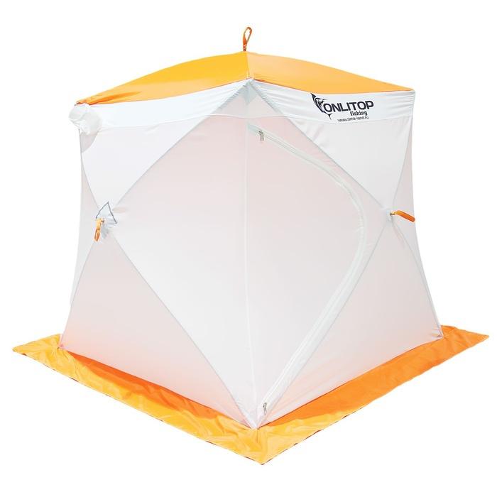 Палатка Onlitop Призма 200 Стандарт White-Orange 1176219 от Pleer