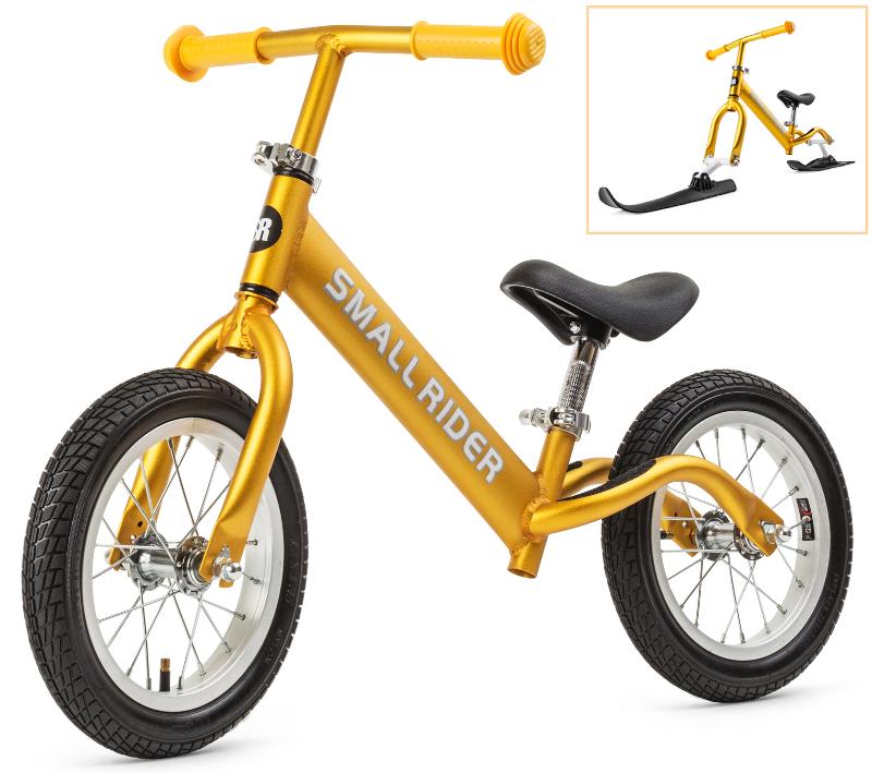 Беговел Small Rider Foot Racer Gold с лыжами и колесами<br>