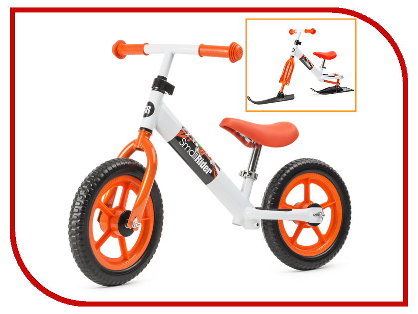 Беговел Small Rider Combo Racer Orange-White с лыжами и колесами