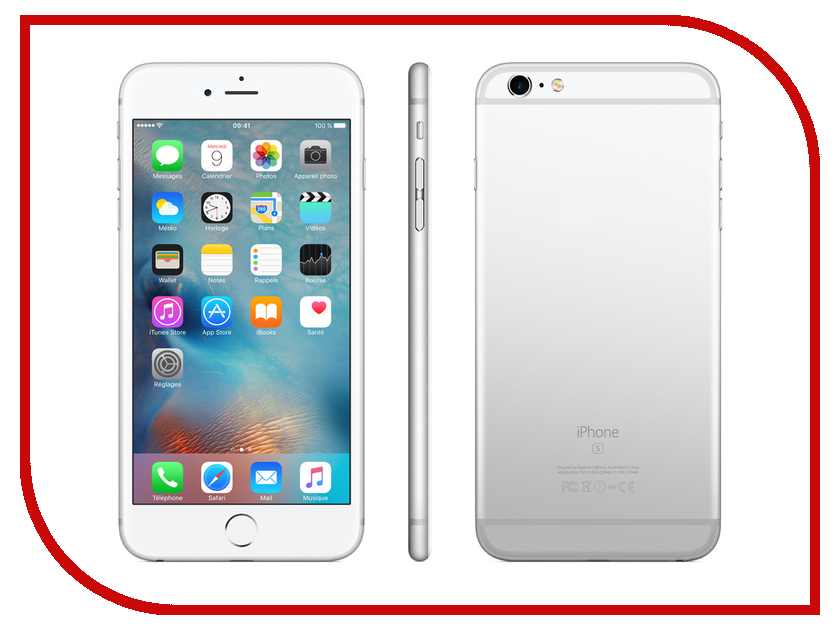 Сотовый телефон APPLE iPhone 6S Plus - 64Gb Silver MKU72RU/A<br>