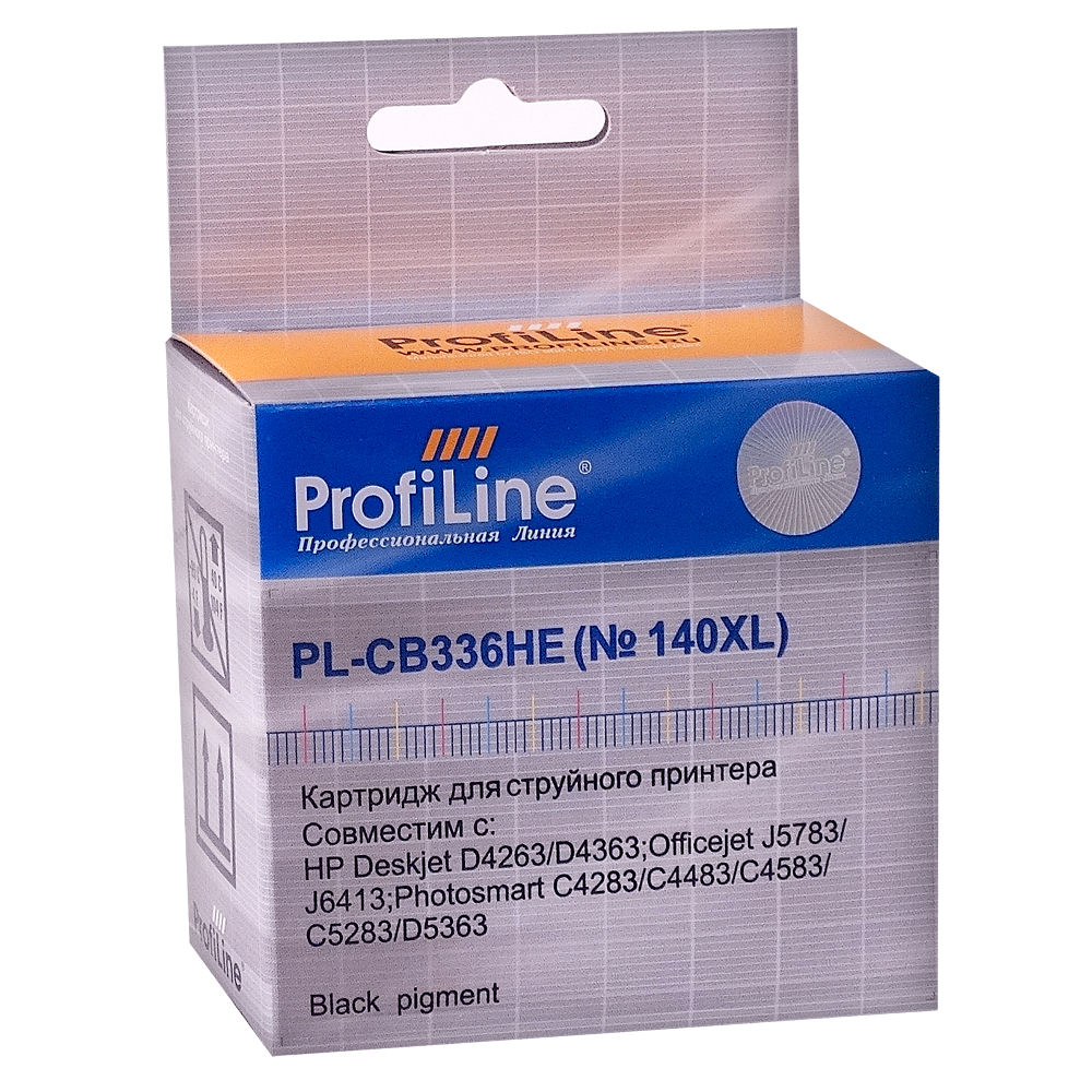 Картридж ProfiLine PL-CB336HE 140XL for HP DJ D4263/PhsmC4283/C5283/D5363/J5783 Black
