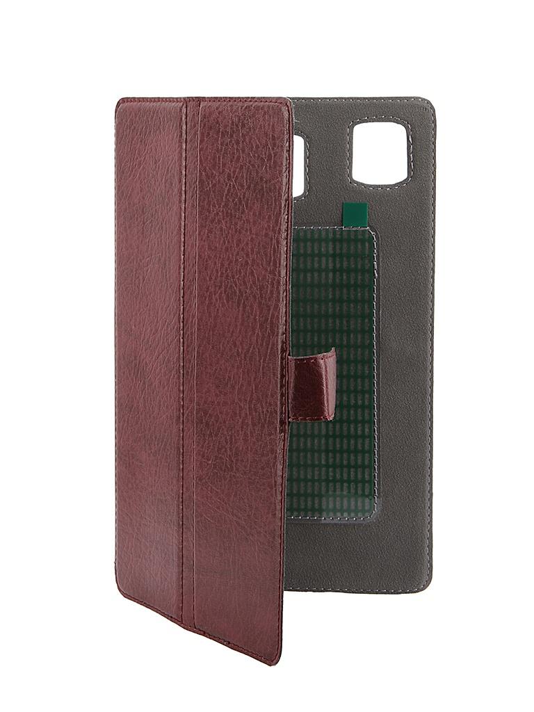 Аксессуар Чехол-книжка Norton Ultra Slim 7-inch универсальный, на клейкой основе 200x120mm Bordo