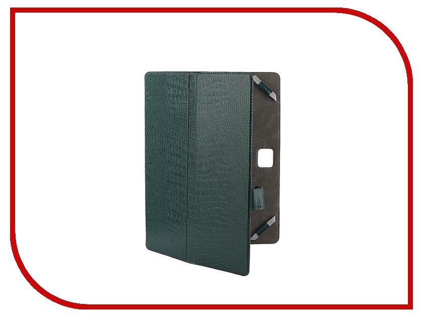 Аксессуар Чехол-книжка 10.1-inch Norton Ultra Slim универсальный, крепление резинки 262x181mm Green Reptile<br>