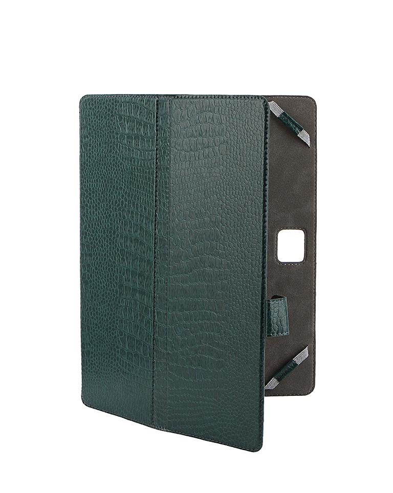 Аксессуар Чехол-книжка 10.1-inch Norton Ultra Slim универсальный, крепление резинки 262x181mm Green Reptile