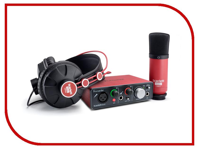Комплект для звукозапсиси Focusrite Scarlett Solo Studio<br>