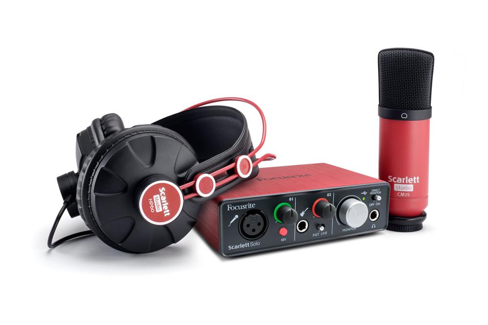 Комплект для звукозапсиси Focusrite Scarlett Solo Studio от Pleer