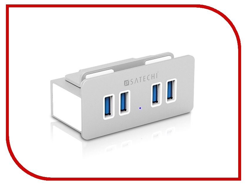Хаб USB Satechi Aluminum Clamp Hub Premium 4-Port USB 3.0 Compatible with iMacs Released 2012 and Later B00S6YSWUW<br>