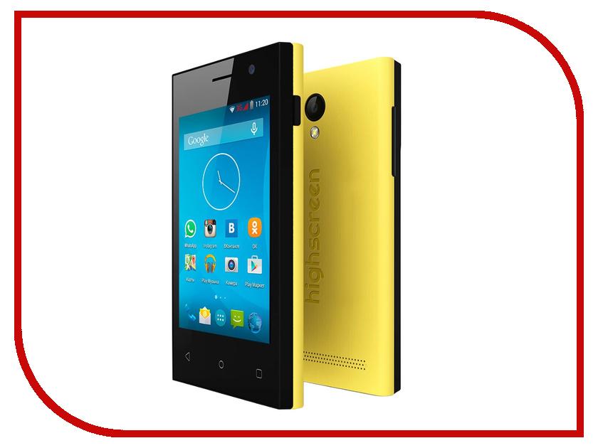 Сотовый телефон Highscreen Pure J Yellow