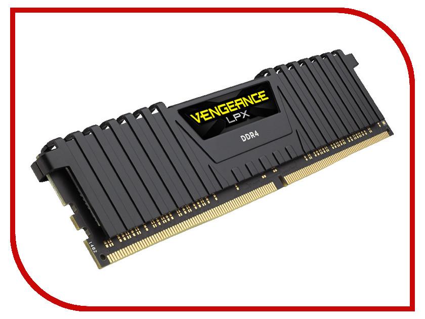 Модуль памяти Corsair Vengeance LPX Black DDR4 DIMM 2400MHz PC4-17000 - 4Gb CMK4GX4M1A2400C14