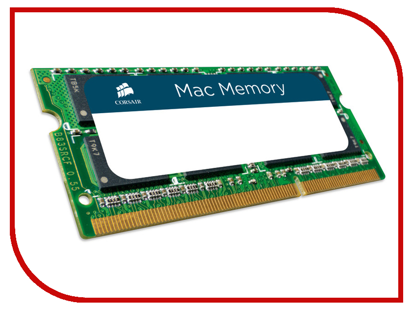 Модуль памяти Corsair Mac DDR3 SO-DIMM 1600MHz PC3-12800 - 8Gb CMSA8GX3M1A1600C11