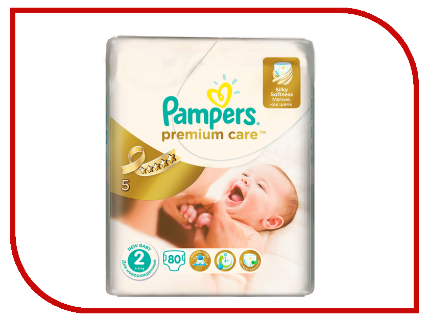 Подгузники Pampers Premium Care Mini 3-6кг 80шт 4015400741633<br>