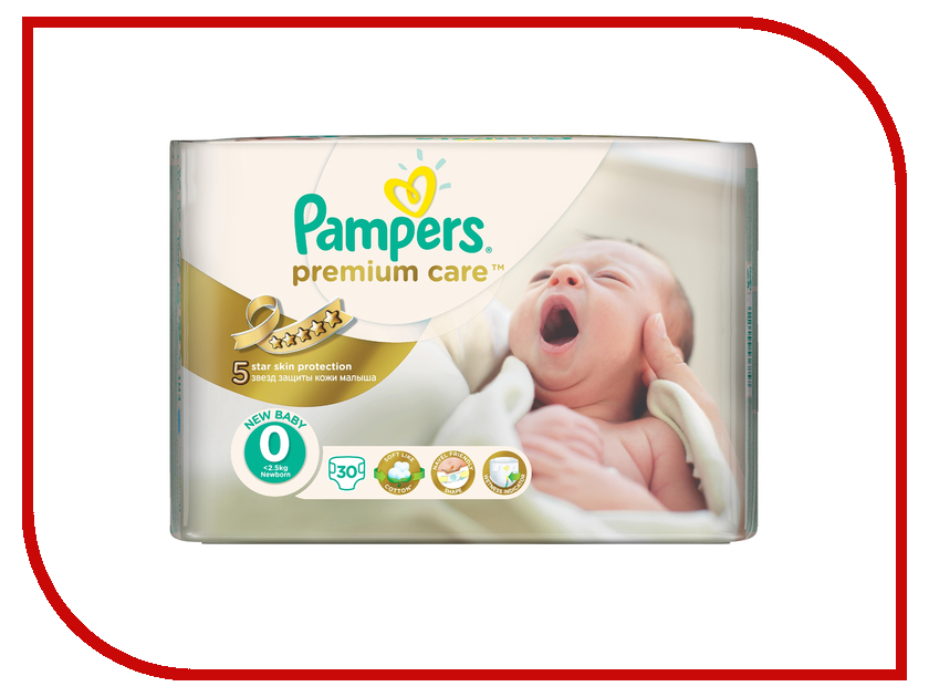 Подгузники Pampers Premium Care Newborn 1-2.5кг 30шт 4015400536857