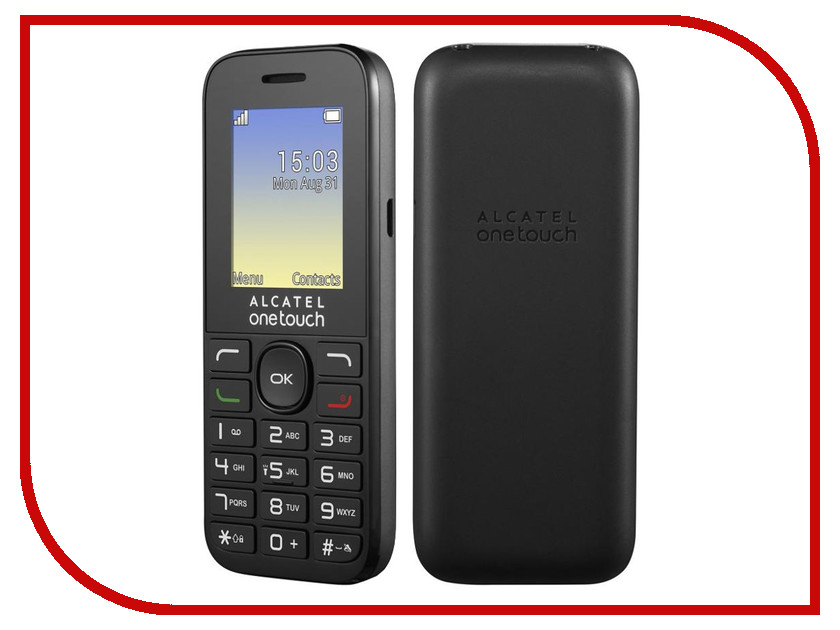 Сотовый телефон Alcatel OneTouch 1016D Volcano Black сотовый телефон alcatel onetouch 2008g black metal silver
