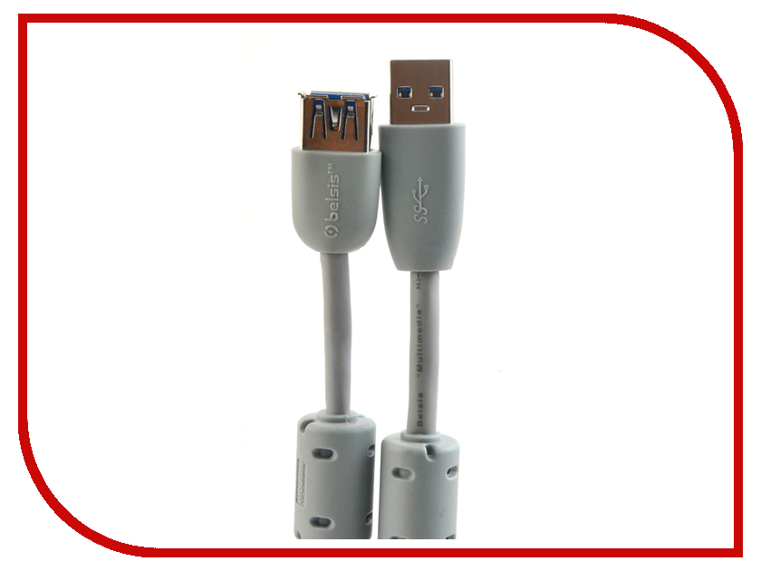 Аксессуар Belsis USB - USB A 1.8m BW1406<br>