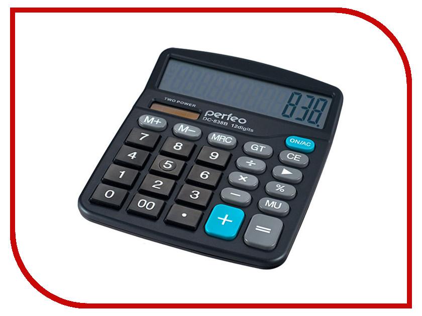 Калькулятор Perfeo DC-838B Black