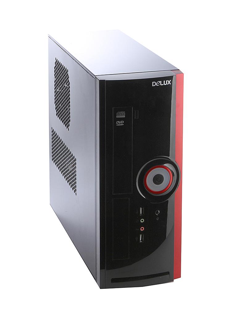 Корпус Delux Minitower DLC-116 400W Black компьютерный корпус delux dlc dw600 450w black