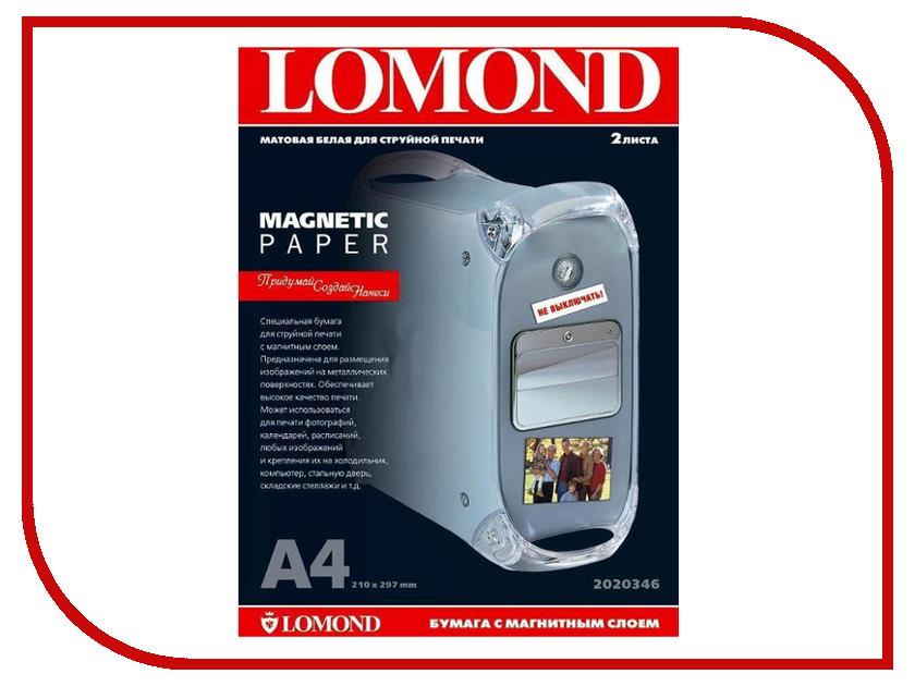 Фотобумага Lomond 2020346 матовая 620g/m2 A4 с магнитным слоем 2 листа