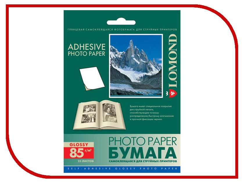 Фотобумага Lomond 2413003 глянцевая 85g/m2 105x148.5mm 25 листов<br>