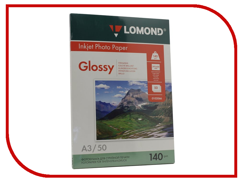 Фотобумага Lomond 0102066 глянцевая 140g/m2 A3 односторонняя 50 листов lomond 0102050 lomond