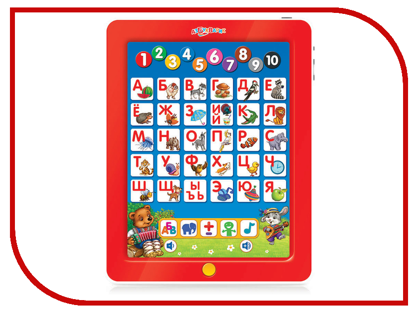 Планшет Азбукварик Первые знания Мишуткин планшетик Red 4630014080390 / 4680019280325