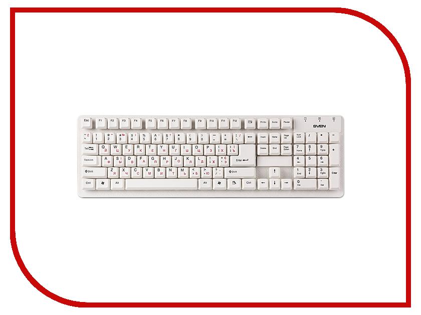 Клавиатура Sven Standard 301 White USB