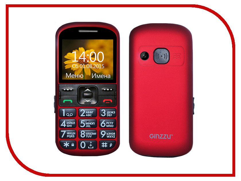 Сотовый телефон Ginzzu R12D Red<br>