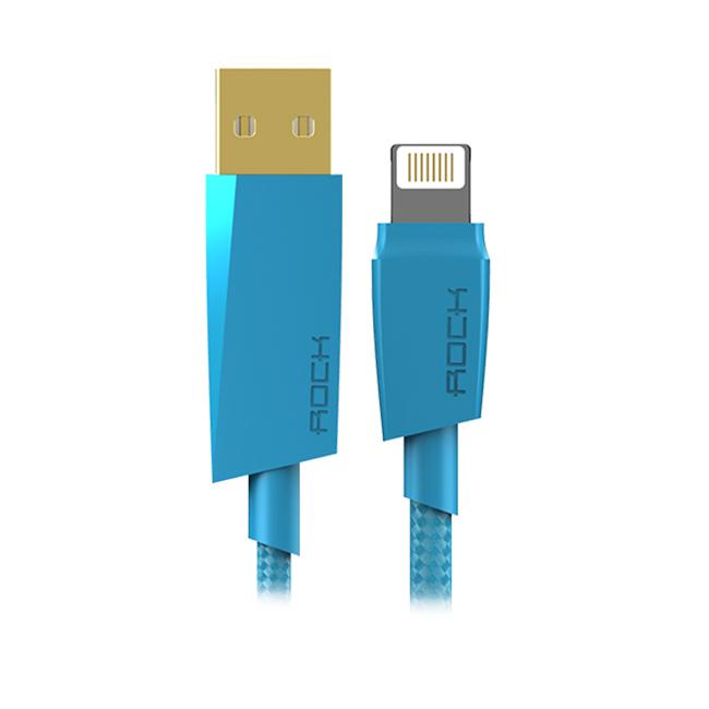 Аксессуар Rock Charge & Sync USB-Lightning 120cm Blue 88126