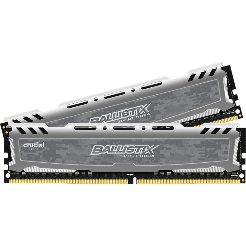 Модуль памяти Crucial Ballistix Sport DDR4 DIMM 2400MHz PC4-19200 CL16 - 8Gb KIT (2x4Gb) BLS2K4G4D240FSB