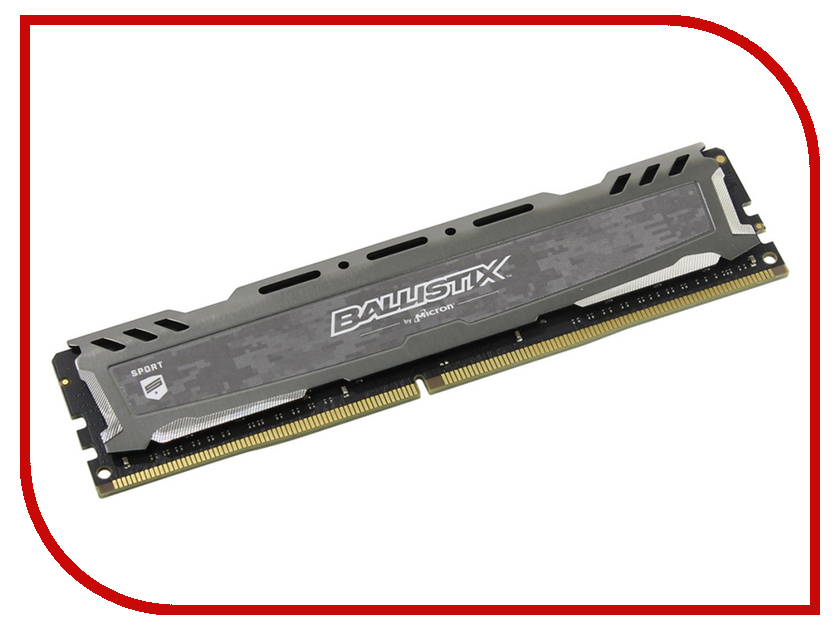 Модуль памяти Crucial Ballistix Sport DDR4 DIMM 2400MHz PC4-19200 CL16 - 4Gb BLS4G4D240FSB модуль памяти patriot memory ddr4 so dimm 2400mhz pc4 19200 cl17 4gb psd44g240041s