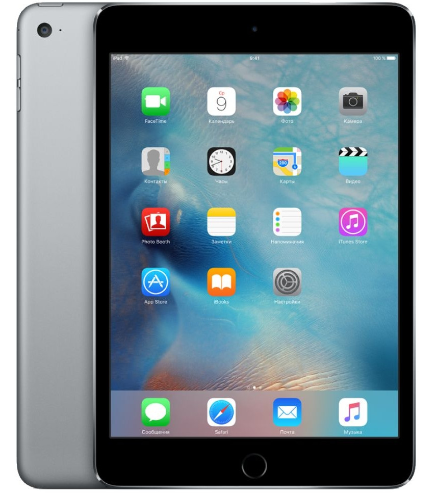 Планшет APPLE iPad mini 4 128Gb Wi-Fi Space Gray MK9N2RU/A
