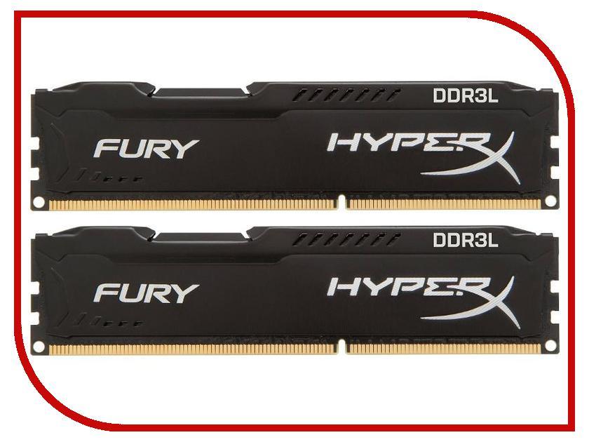 Модули памяти PC3-12800 DIMM DDR3L 1600MHz CL10  Модуль памяти Kingston PC3-12800 DIMM DDR3L 1600MHz CL10 - 16Gb (2x8Gb) HX316LC10FBK2/16
