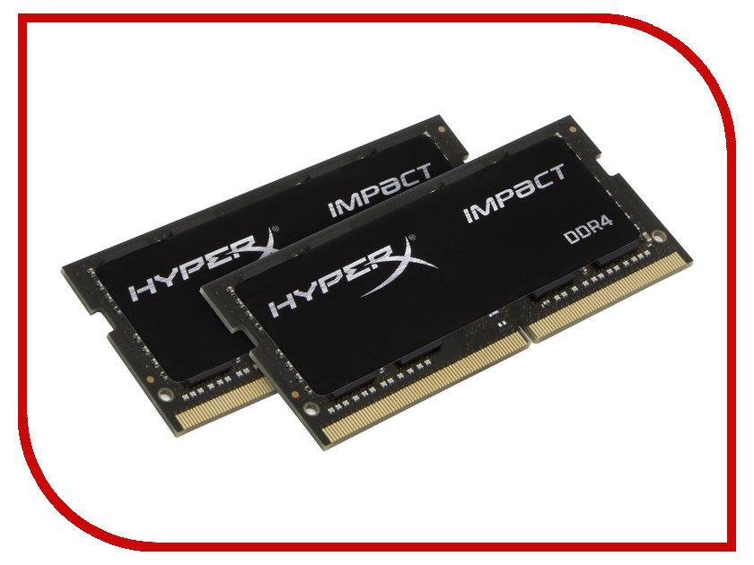 Модуль памяти Kingston DDR4 SO-DIMM 2400MHz PC4-19200 CL14 - 16Gb KIT (2x8Gb) HX424S14IBK2/16