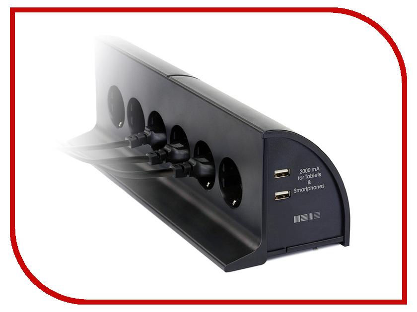 Сетевой фильтр InterStep HDTV-306W Black<br>