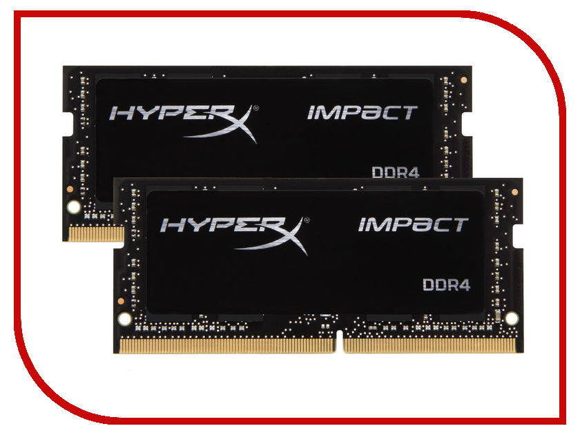 Модуль памяти Kingston DDR4 SO-DIMM 2133MHz PC4-19200 CL13 - 16Gb KIT (2x8Gb) HX421S13IBK2/16