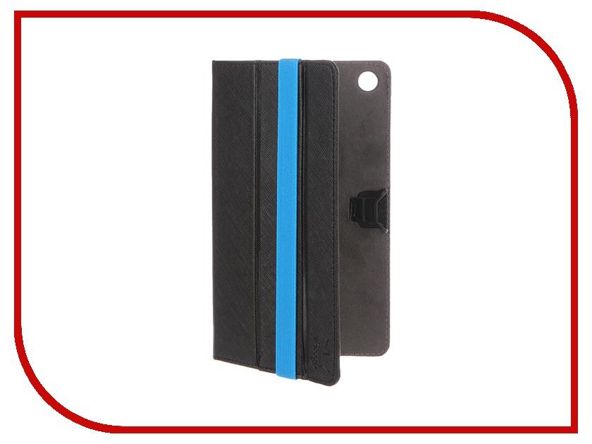 Аксессуар Чехол Lenovo Tab 2 A7-30 Snoogy иск. кожа Black SN-LN-T2A7-BLK-LTH