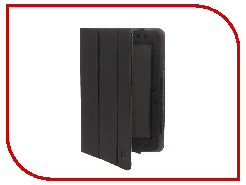 Аксессуар Чехол Lenovo A8-50 A5500 Snoogy иск. кожа Black SN-LNA8-BLK-LTH