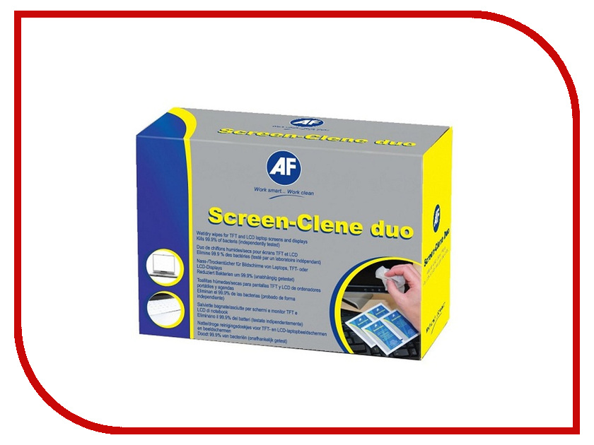 Аксессуар AF International ASCR020 - салфетки Screen-Clene Duo