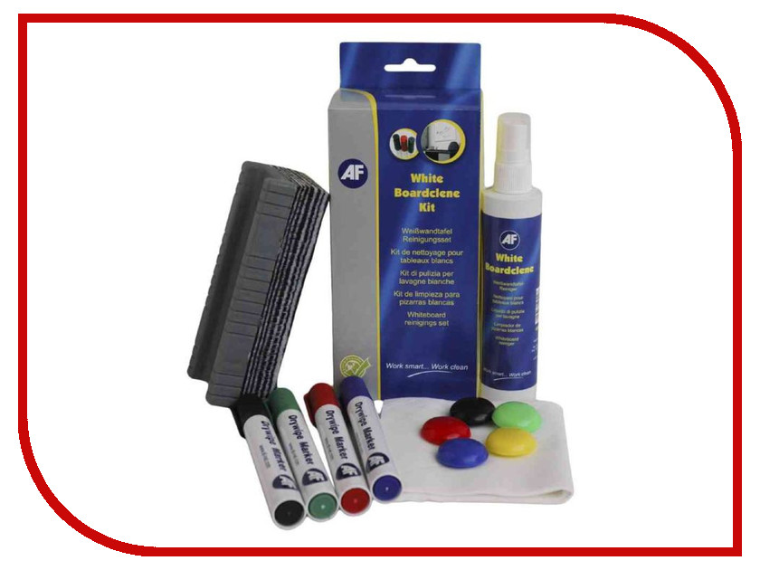 Аксессуар AF International AWBK000 White Boardclene - для работы с маркерными и лекционными досками<br>