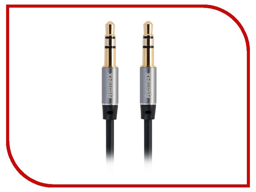 Аксессуар Remax AUX 3.5 Jack/M - 3.5 Jack/M 2m Black Item 5-058 51466 аксессуар remax 3 5mm share jack cable rm 000199