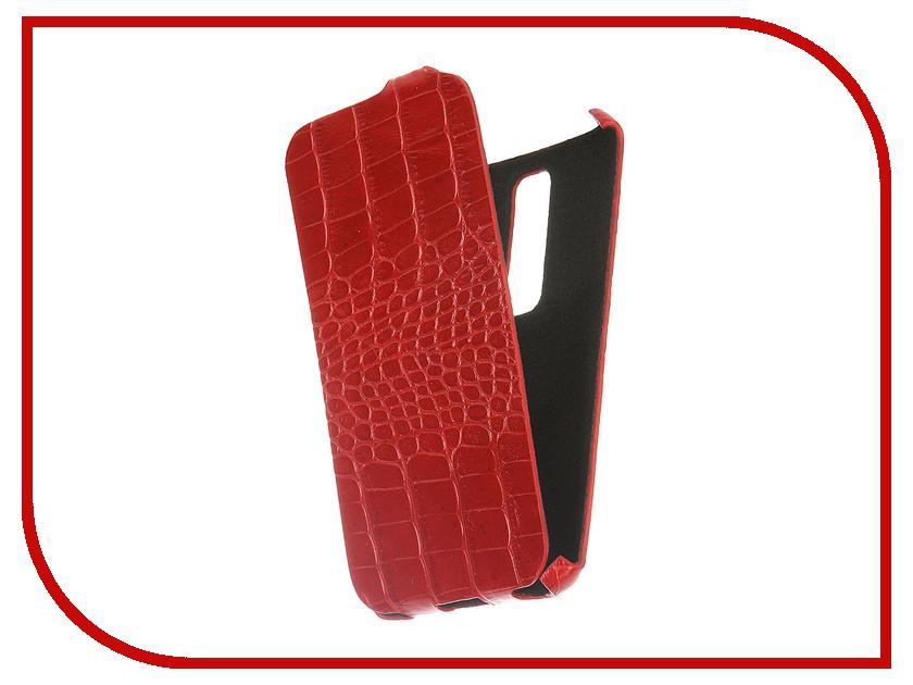Аксессуар Чехол ASUS ZenFone 2 551ML Abilita Ultra Slim кожаный Red Crocodile<br>