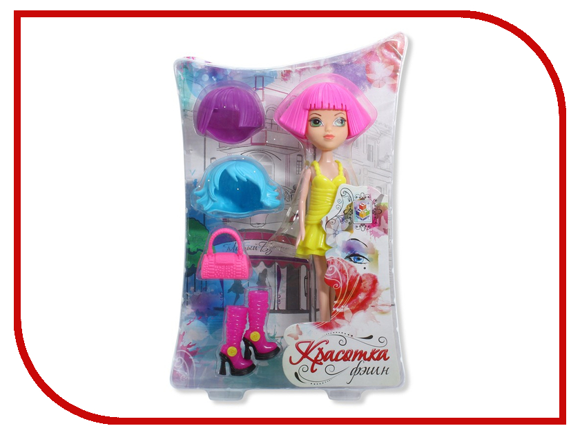 Кукла 1Toy Красотка Фэшн Т57129 1toy с мебелью 187 деталей красотка