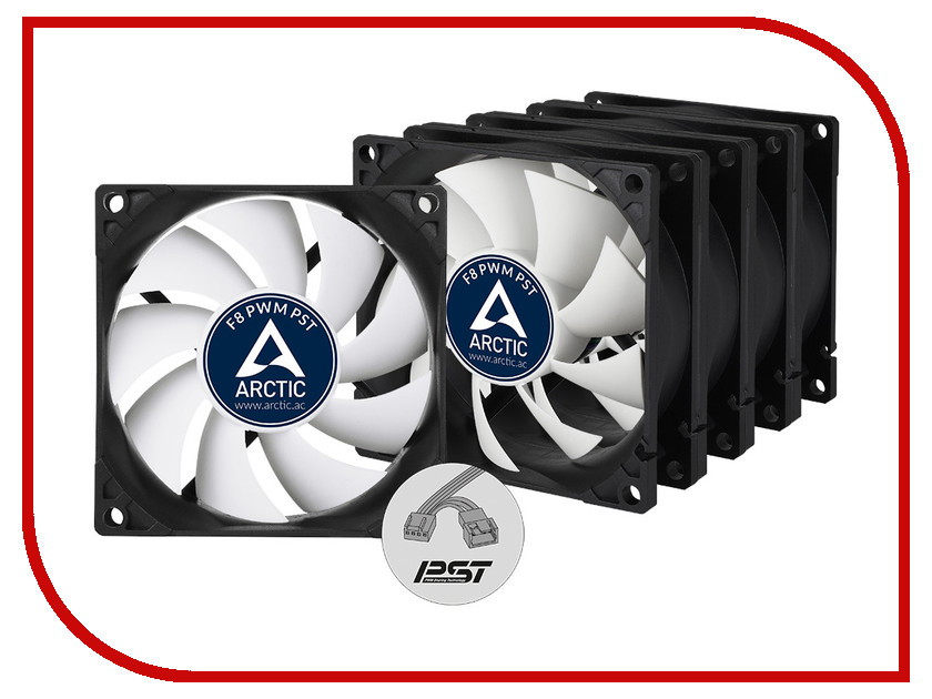 ���������� Arctic Cooling F8 PWM PST Value Pack ACFAN00064A 80mm