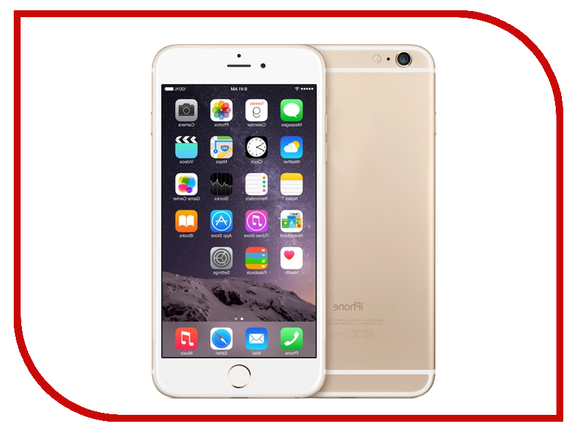Сотовый телефон APPLE iPhone 6S - 128Gb Gold MKQV2RU/A сотовый телефон apple iphone 6s 16gb rose gold fkqm2ru a восстановленный