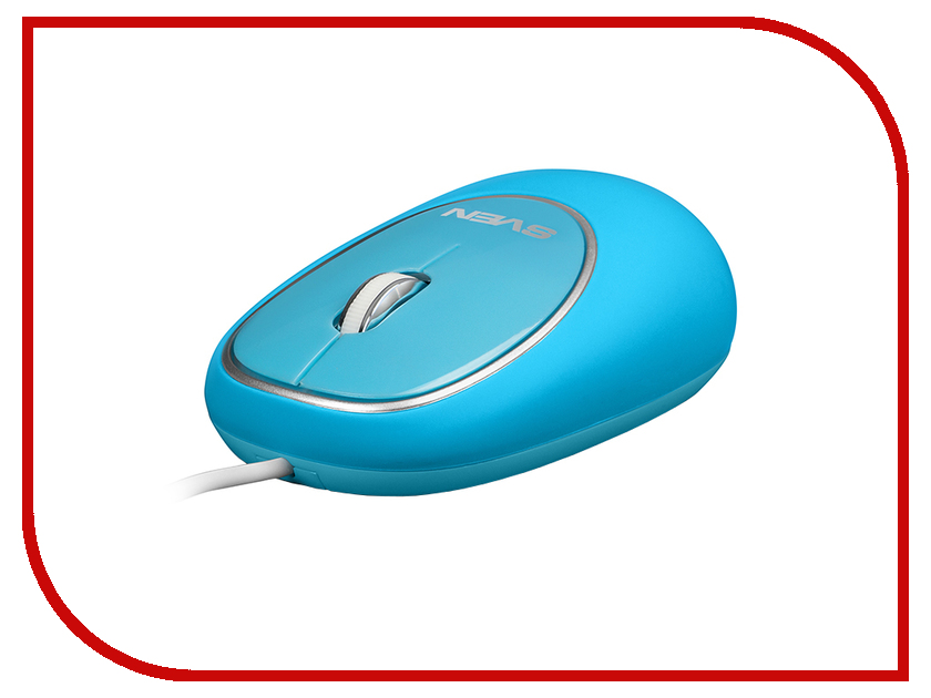 Мышь проводная Sven RX-555 Antistress Silent Blue SV-03200555UBS<br>