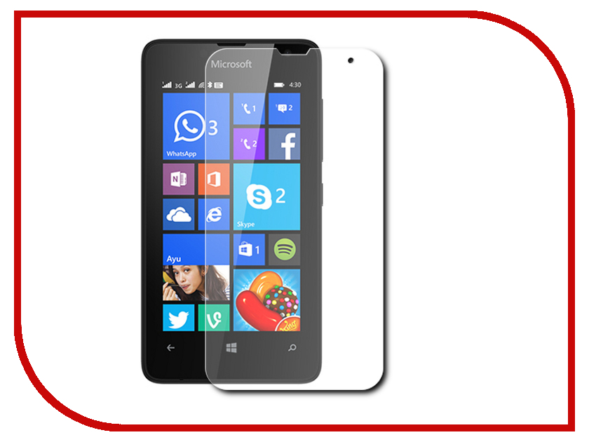 Аксессуар Защитная пленка Microsoft Lumia 430 Red Line матовая