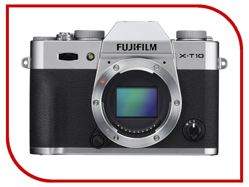 Фотоаппарат FujiFilm X-T10 Body Silver fujifilm x t1 body