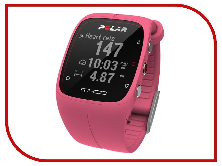 Пульсометр Polar M400 HR Pink