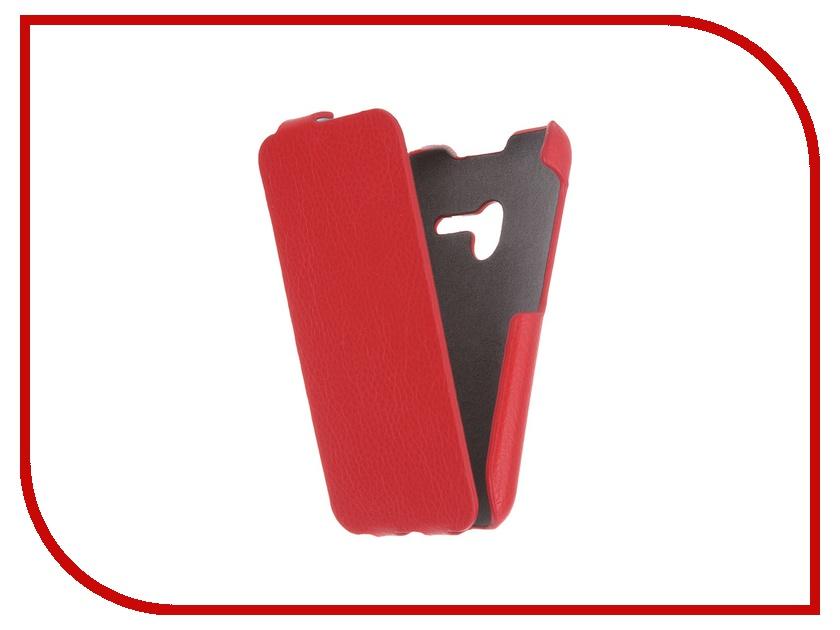 Аксессуар Чехол Alcatel OneTouch Pixi 3 4013D iBox Premium Red аксессуар чехол alcatel onetouch 5045d pixi 4 ibox crystal transparent