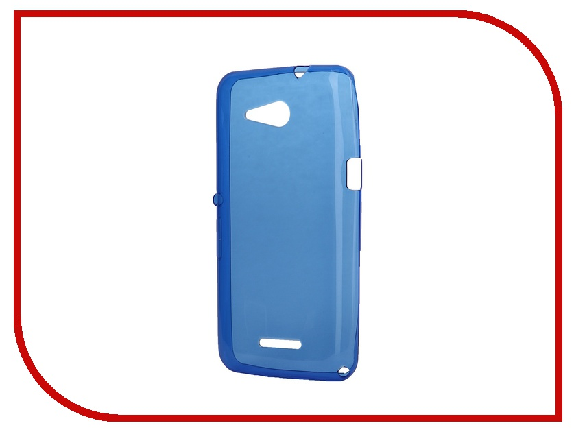 Аксессуар Чехол-накладка Sony Xperia E4G Dual iBox Crystal Blue<br>