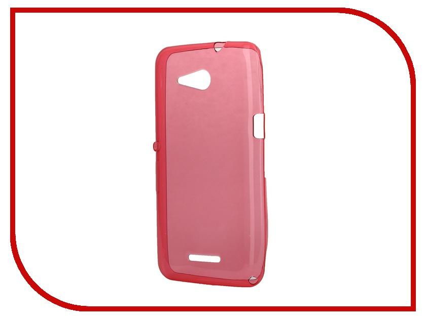 Аксессуар Чехол-накладка Sony Xperia E4G Dual iBox Crystal Red<br>